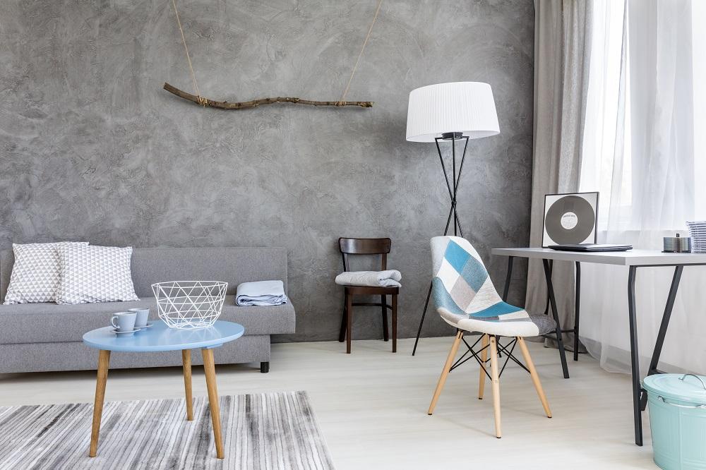 minimalistyczny pokój dzienny
